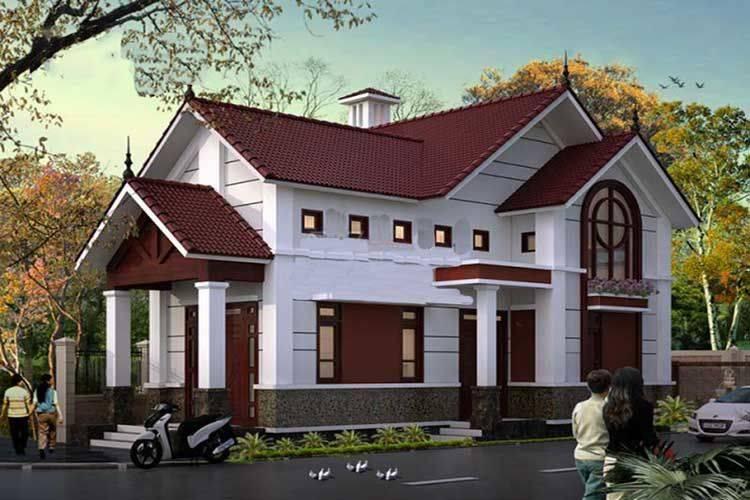 nhà mái thái đẹp. Ảnh coffaxaydungdongnai.com